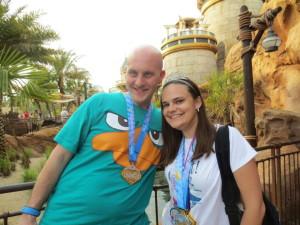 Brandi Gilbert and Nick - we finished!