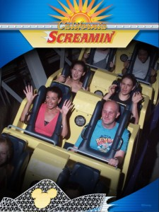 My second trip on California Screamin' - this time with Jen screamin'