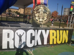 One of my favorite medals! Rocky Balboa Run!