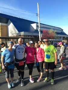2016 St. Luke's Half Runners - Erica, Nick, Sheena, Audra, Jim