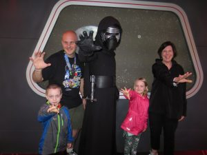 The family that uses the force together...