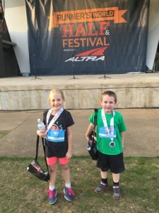 Elaina and Alex - 2016 Runner's World Kids' Race Finishers!